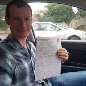 Alex Automatic Driving Lessons Passed Driving Test