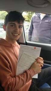 Paddy Automatic Driving Lessons Passed Driving Test